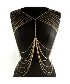 Shoulder & Body Chain Gold @ www.InMyDresser.com
