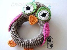 Crochet rattle owl
