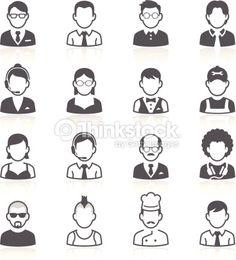Business people avatar icons. Vector illustration : Vektorgrafik
