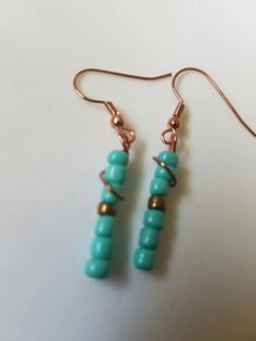 A personal favorite from my Etsy shop https://www.etsy.com/listing/280271886/copper-wire-wrapped-turquoise-earrings