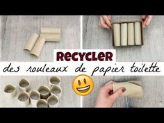 (33) 5 choses à faire avec des rouleaux de papier toilette - YouTube Scrapbooking Diy, Ikea Hack, Diy And Crafts, Projects To Try, How To Make, Tetra Pack, Manon, Recycling, Recycled Crafts