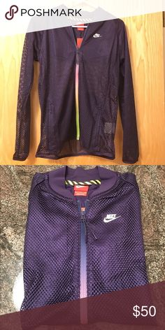 NEW Nike mesh bomber jacket New with tag, add this to your workout wardrobe! price firm Nike Jackets & Coats