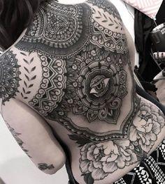 Tattoo Life Magazine: Work by Insider Tattoo, UK . Tattoo Girls, Girl Back Tattoos, Back Tattoo Women, Lower Back Tattoos, Tattoos For Women, Full Body Tattoo, Full Sleeve Tattoos, Top Tattoos, Black Tattoos