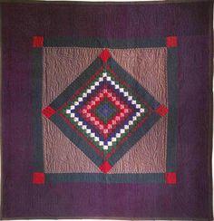 """Diamond"" variation Amish quilt, Lancaster County, Penn., 1930."