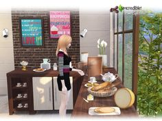 Sims 4 CC's - The Best: Home Cafeteria - Goodies by SIMcredible!