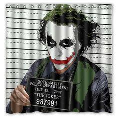 Novelty Bathroom Products!Batman Funny Role&Joker Printed Waterproof Polyester Shower Curtain/Bath Curtain( 180X180CM)