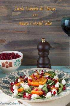 Autumn colorful salad
