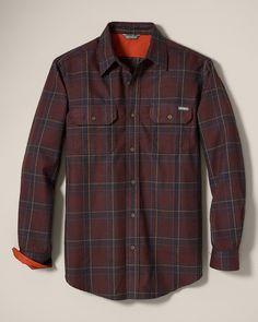 Expedition Flannel Shirt | Eddie Bauer - Bordeaux, size L