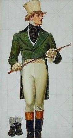 'Man with Baton' by Joseph Christian Leyendecker (1874-1951) : Original Oil on Canvas