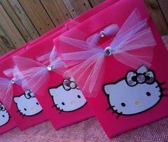 6 bolsas de cumpleanos de hello kitty - 6 Bolsas de cumpleaños de Hello Kitty
