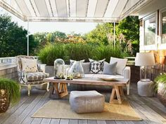 Tips for how to add an outdoor canopy on your deck and how to crack the code and shop smarter when it comes to reading outdoor fabric labels.