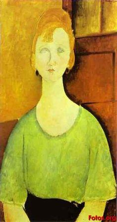 Muchacha con blusa verde - Amedeo Modigliani