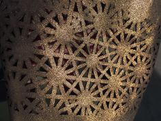 detail of gold leather geometry lasercut in process Fractal Tattoo, Fractal Geometry, Gold Leather, Vector Design, Laser Cutting, Fractals, Photo And Video, Detail, Decoration