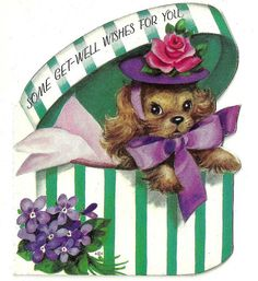 vintage get well cards | Vintage Get Well Greeting Card 03 | Flickr - Photo Sharing!