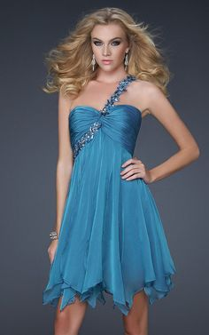 Peacock Lady Pageant Mini Cocktail Prom dress Homecoming evening formal Cocktail dress La Femme 16903
