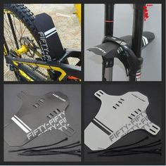 Bike Bicycle MTB Quick Release Fender Rear Mudguard Front Fork Portable Quick Release black white