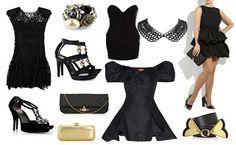 Siyah elbiseyi hareketlendirelim.  Takiclub.com