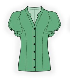 WOMEN Blouses Sewing Patterns Made to Measure and Royalty Free Tunic Sewing Patterns, Sewing Blouses, Sewing Shirts, Blouse Patterns, Clothing Patterns, Blouse Designs, Make Your Own Clothes, Fashion Design Sketches, Women's Fashion Dresses