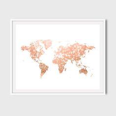 Wood World Map Print Printable World Map Digital World Map Art - 8x10 printable world map
