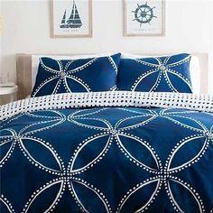 Indigo Blue Quilt Cover Set - Queen Bed