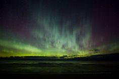 photo: aurora over Lake Superior, Sand River Mi 11/7/15