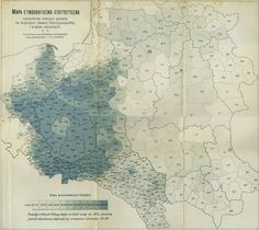 Polish ethnographic map from according to pre-war censuses Century, Poland) Poland Map, Frederick The Great, Old Maps, Historical Maps, Street Signs, Lithuania, Roman Catholic, Cartography, Eastern Europe