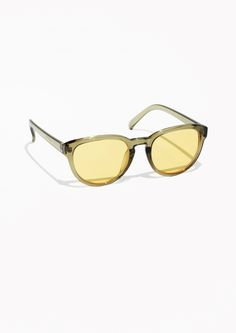 & Other Stories Marbled Sunglasses  in Green