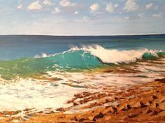 Learn how to #paint a crashing wave in #acrylics with Jon Cox as part of our #landscapes academy. Coming soon to ArtTutor.