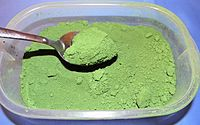 Chromium(III) oxide is the inorganic compound of the formula Cr2O3. It is one of principal oxides of chromium and is used as a pigment. In nature, it occurs as the rare mineral eskolaite.