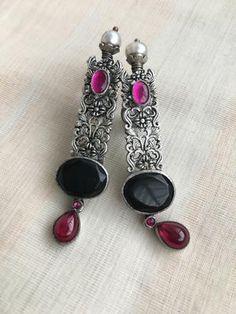 Fancy Jewellery, Silver Jewellery Indian, Tribal Jewelry, Temple Jewellery, Silver Jewelry, Silver Jhumkas, Oxidised Jewellery, Antique Jewelry, Ear Chain