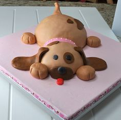 Puppy Dog cake with marshallow fondant recipe