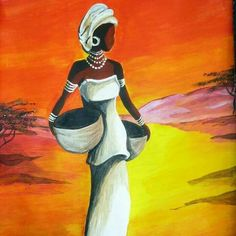 Acrylic paints – acrylic painting of african girl. Peintures acryliques – peinture acrylique sur EnPerdreSonLapin african girl Acrylic paints – acrylic painting of african girl. African Girl, African American Art, African Women, South African Art, African Style, American Artists, Black Art, Black Women Art, African Artwork