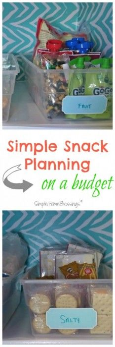 Simple tips for having snacks at the ready!