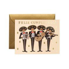 Feliz Cumpleaños Mariachi Birthday Card