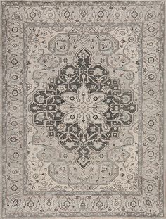 Ottoman - Mc-28 - Samad - Hand Made Carpets Grey Rugs, Charcoal, Ottoman, Beige, Home Accessories, Handmade, Carpets, Doll, House