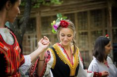 Bulgarian dancing by Vassil Nikolov Exotic Wedding, European Wedding, Traditional Wedding Dresses, Traditional Outfits, Something Borrowed, Bulgarian, My Heritage, Happy Colors, Wedding Images