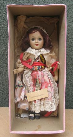 Eugenia Doll Composition Czechoslovakia In Box 11""