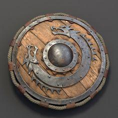 viking shield 3d max Escudo Viking, Fantasy Armor, Fantasy Weapons, Medieval Fantasy, Medieval Dragon, Viking Dragon, Medieval Knight, Larp, Viking Life
