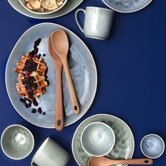 Artisan Tableware Collection by Maxwell & Williams - Platter - Grey Old Mattress, Natural Texture, Stoneware, Artisan, Pottery, Ceramics, Mugs, Tableware, Glaze