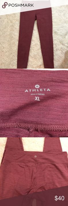 Athlete Yoga Pants NEW Condition. Our go-to tight for all things yoga in a jacquard fabric comes in a high-rise fit for a triple dose of performance: keeps everything tucked in, offers a secure, stay-put fit, and creates the longest, leggiest look. INSPIRED FOR: yoga, studio workouts UNPINCHABLE WAISTBAND. 3-layer inner mesh construction smooths over your midsection for a no-muffin-top zone Flatlock seams minimize chafe, hidden key pocket on inside waistband Breathable CoolMax® crotch gusset…