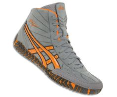 orange asics rulon wrestling shoes