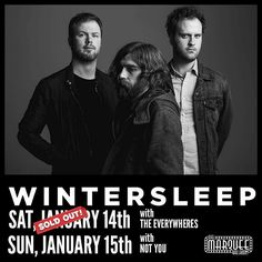 LAST CALL CONTEST ALERT! You could be hanging out with  @wintersleeptheband TONIGHT.  CHECK YR DM's around 4:20pm . tag someone you want to bring to the show. actually tag as many people as you want for more chances to win BUT only one tag per comment.  and of course they can tag you back etc. #))<>(( . Ill randomly pick a winner at 4:20 the SUNDAY of the show so watch your dms around then cause thats how Ill let you know youve won. and Ill update the post to let everyone know that Ive made…