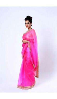 Ranas Shaded Pink pure Kota Silk saree