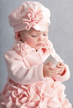 Baby Pink Flower Coat Preorder 9 Months to Little Girl Dresses, Little Girls, Girls Dresses, Cute Kids, Cute Babies, Baby Kids, Toddler Girls, Kind Photo, Precious Children
