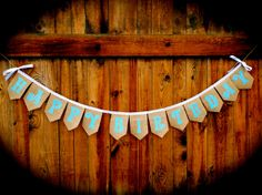 Happy Birthday Banner, Burlap and Lace, Birthday Garland, Eco Friendly and Reusable Banner by RusticDaisyDesigns, $38.00