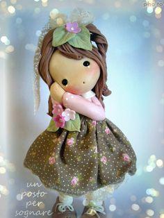 porcellana fredda,doll porcelana fria,doll,bamboline paste polimere