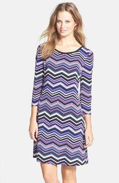 Eliza J Zigzag Print A-Line Dress (Petite) available at #Nordstrom