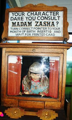 Madam Zasha - vintage Amusement Arcade Fortune Telling machine - Southport Pier