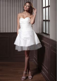 sweetheart A-line wedding dress... Love this for the reception!