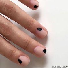 Minimalist nail art for times when you are not in the .-Minimalistische Nail Art für Zeiten, in denen Sie nicht in den Salon kommen – N… Minimalist nail art for times when you don't come to the salon – Nailstyle – - Matte Nails, Diy Nails, Acrylic Nails, Mens Nails, Nail Polish, New Nail Designs, Manicure E Pedicure, Nail Swag, Minimalist Nails
